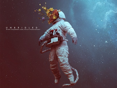 Unbridled record label astronaut edm famous fantasy pop space hope beautiful cd packaging artwork album cover