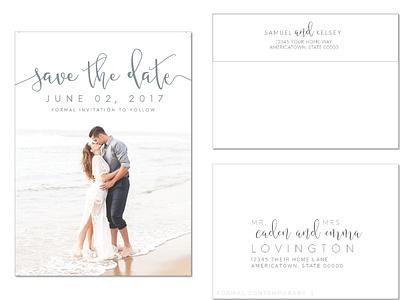 Save the Date Design savethedate engagement wedding design