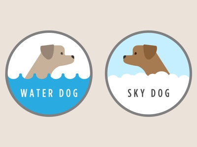 Waterdogskydog illustration dogs
