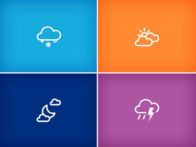 Icons weather icon snow sun cloud moon rain storm