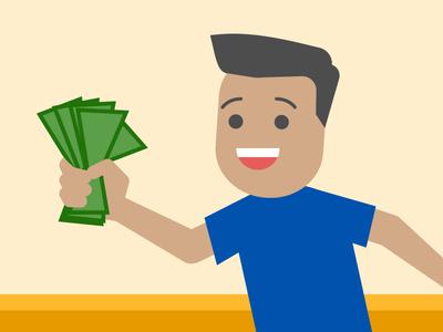Take My Money! illustration minimal simple money dolla-dolla-bills-yall fist-full-of-dollars id-buy-that-for-a-dollar