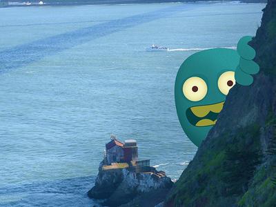 Peeking Monster monster illustration photography