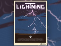 Lightning Weather Poster