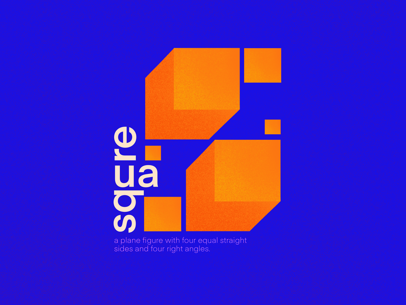 Square blue colours graphicdesign complementary colors square shapes design typography illustration