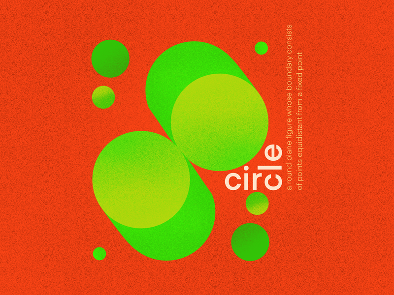 Circle green red colors complementary colors design typography illustration art shapes