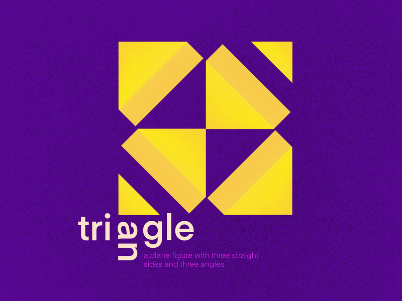 Traingle yellow purple pattern art graphicdesign design illustration typography complementary colors triangle shapes