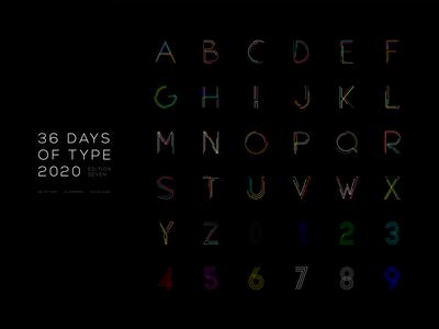 36 DAYS OF TYPE 2020 - 07 type font rishaaart 36daysoftype07 36daysoftype adobeillustator typography