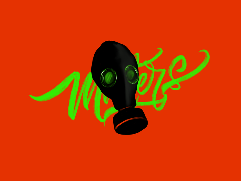 Mask Matters designtrend2020 trend2020 artoftheday artists visualart matters mask letter rishaaart complementary colors art procreate design typography illustration