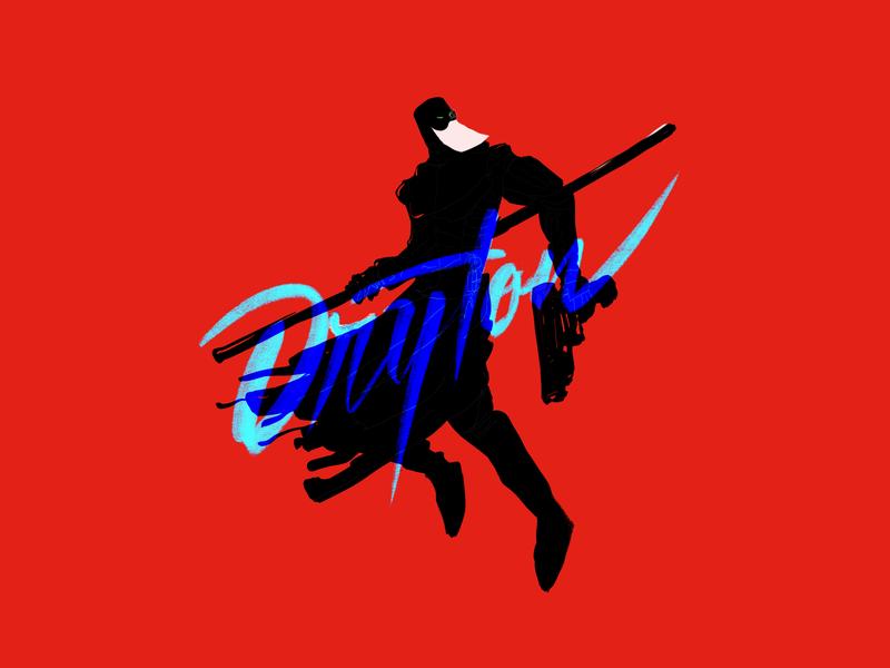 D R Y T O N  - The Glowing Beard. scifi futuristic comicart comics characterart characterdesign rishaaart graphicdesign procreate art design typography illustration