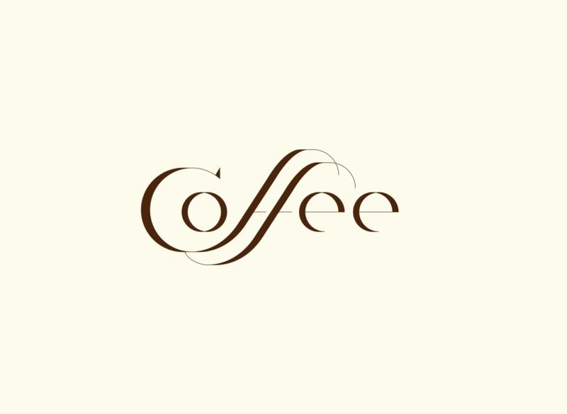 Coffee type letter logo art vector rishaaart graphicdesign design typography illustration