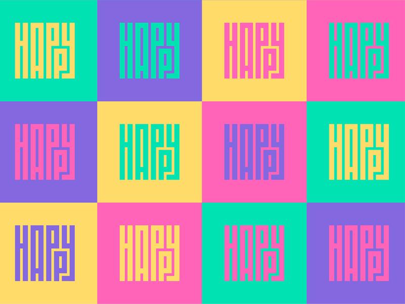 Happy Type logo type letter rishaaart graphicdesign art typography design