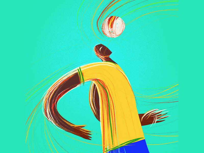 Game Changer brazil football illustration