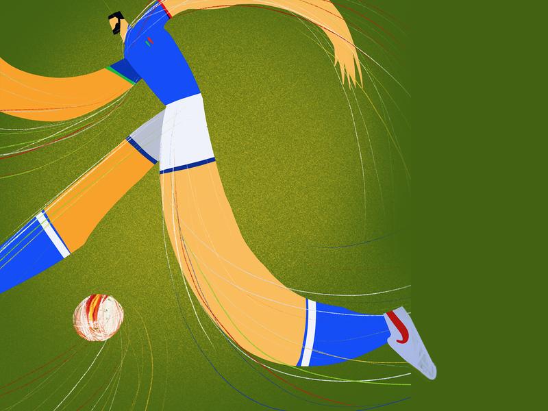 Game Changer italy football illustration