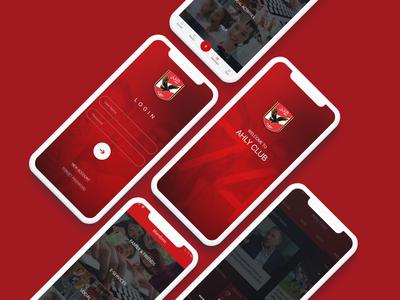 Ahly Club Mobile app proposal mobile app design ux ui ux ui design