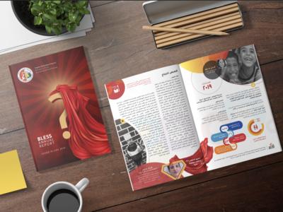 Bless Annual Report brochure mockup brochure design design