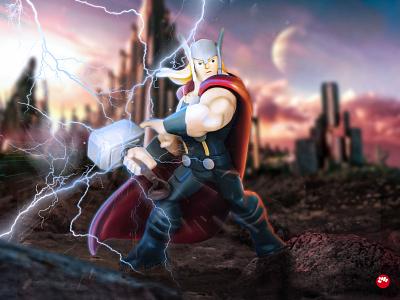 Thor retouche photo mpparea disneyinfinity disney thor photography photoshop marvel comics