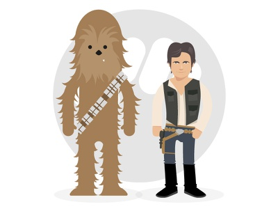 Chewbacca Solo vector illustration starwars charadesign chewbacca solo