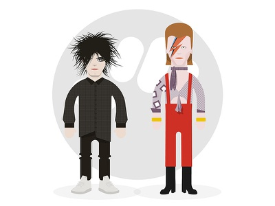 Bowie Smith davidbowie robertsmith vector charadesign illustration