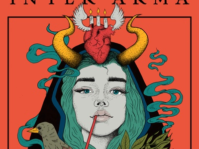 Inter Arma Poster band merch rock posters metal bands inter arma digital ink female drawing illustration metal poster gig poster band