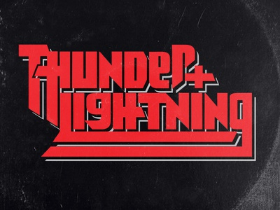Thunder + Lightning Lettering Treatment lettering design fonts handmade custom type typogaphy