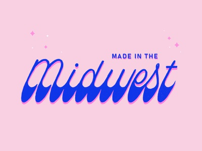 Made in the Midwest typography made in the midwest type hand lettering type design midewest