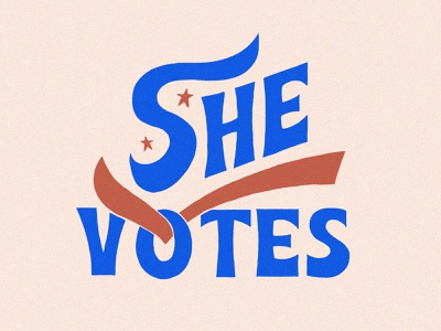 She Votes typedesign lettering shevotes vote