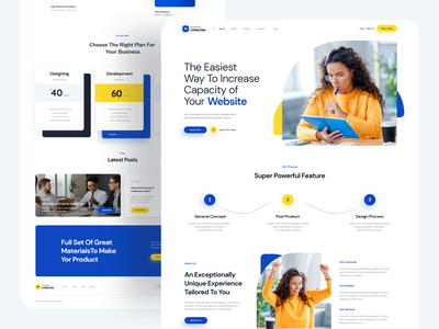 Business Landing uxuidesign design uidesign creative clean business uix uiux ux ui web design website design webdesign website web landing page design landing design landingpage landing page landing