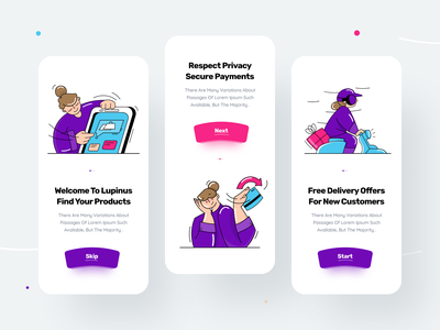 Onboarding Screen illustration pack illustration kit mobile design uix walkthrough screen walkthrough mobile ui mobile app design app ux ui vector creative illustraion onboarding illustration onboarding screens onboarding screen onboarding ui onboarding