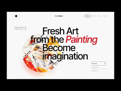 Portfolio minimalism layout modern hero section art header exploration headers portfolio hero header header minimal web design web clean creative landing website design ux ui