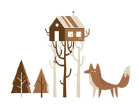 Treehouse and fox