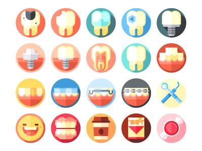Dental care icons