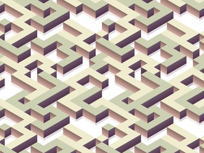 Isometric seamless pattern