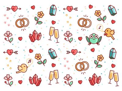 Wedding invitation pattern