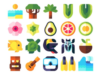 Tropical icons