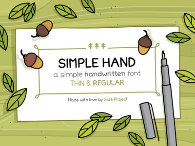 Simple Hand handwritten font