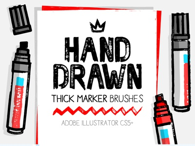 Thick And Dry Marker brushes for AI