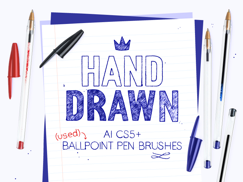 Used ballpoint pen brushes for AI by Ruth & Sira on Dribbble