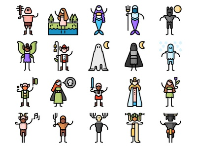 Fantastic characters