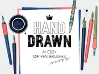 Dip pen brushes for AI