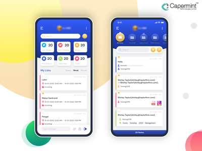 Dribbble design blue clean schedule calendar notes reminder android ios app ux ui