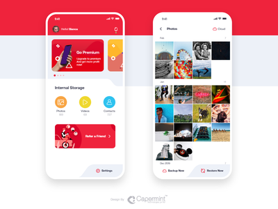 Creative app design for File Manager with cloud storage backup restore android ios creative design ux ui file manager app storage cloud