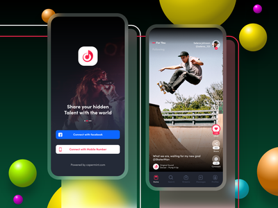 Video Streaming App android application design vibrant colors vibrant eye catchy modern circles 3d blur video background video content video art streaming social network mobile app design mobile app live streaming ios application app