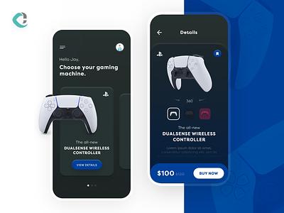 PlayStation Concept Mobile App UI concept design game ux design blue mobile ps sony figma application android app ios app playstation5 playstation app design ui design uiux app design ux ui