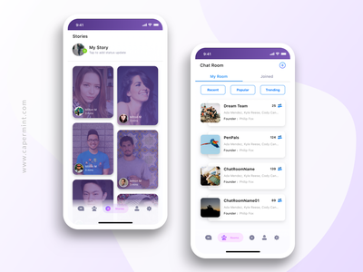Chat App Design chat ui design ux ui sketch minimal illustration gradient dribbble design creative concept clean app