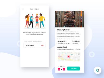 Events App events app illustration capermint ios app design ux ui