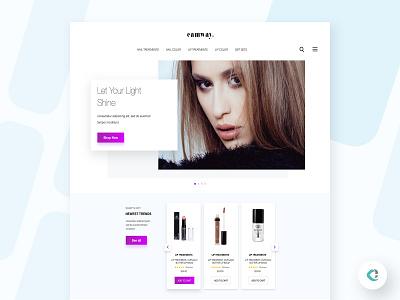 Beauty Store Landing Page beauty products website concept landing page website design ux ui