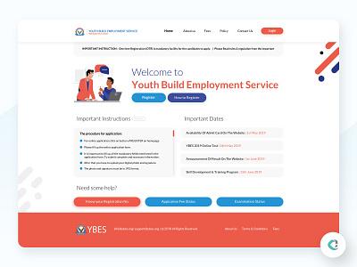YBES Website Landing landing page design landingpage capermint design ux ui web design website