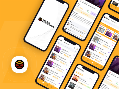 Events App - Angola Experience UI Design android ios capermint booking events creative design app ux ui