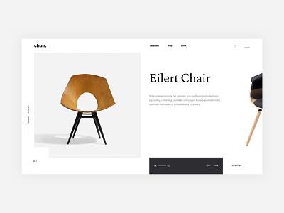 Chairs landing page landing web ui ux design