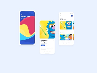 Clean & Play for Kids games kids app app concept ui ux design